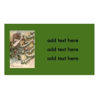 Ornamento de la vela del árbol de navidad del tarjetas de visita