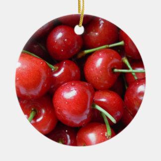 Ornamento de las cerezas ornamento de navidad
