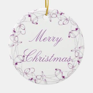 Ornamento de las Felices Navidad