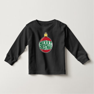 Ornamento de las Felices Navidad Camiseta De Bebé