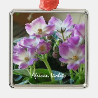 Ornamento de las flores de las violetas africanas ornaments para arbol de navidad