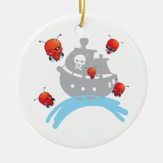 Ornamento de las mariquitas del pirata ornamente de reyes
