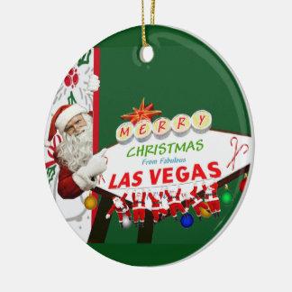 Ornamento de Las Vegas SANTAS de las Felices Adorno Para Reyes