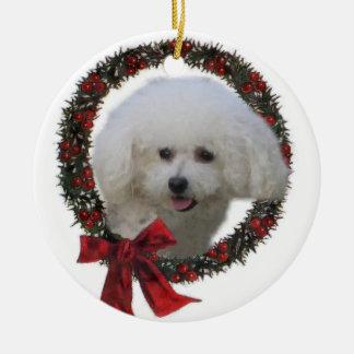 Ornamento de los regalos del navidad de Bichon