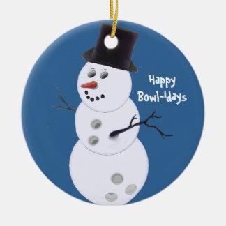 Ornamento de los regalos del navidad de los adorno navideño redondo de cerámica
