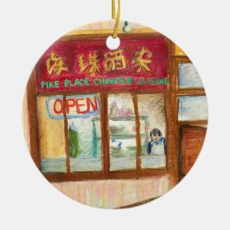 Ornamento de los restaurantes del lugar de Pike Adorno Para Reyes