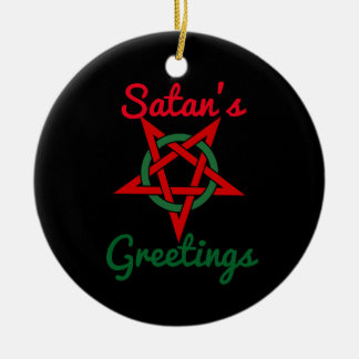 Ornamento de los saludos de Satan