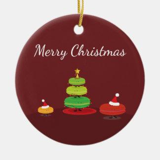 Ornamento de Macarons el | de las Felices Navidad