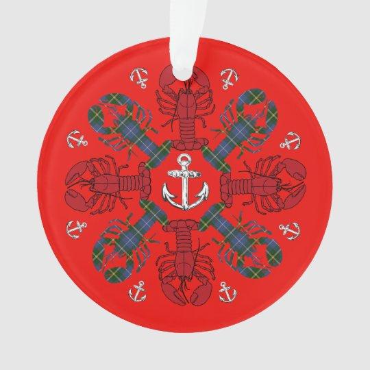 Ornamento de N.S. Christmas del ancla del copo de
