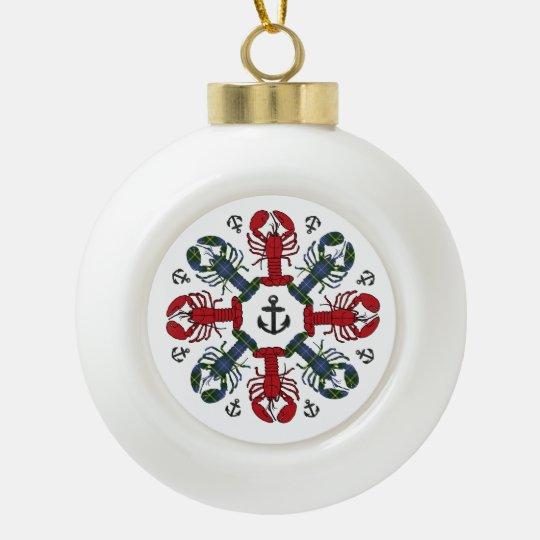 Ornamento de N.S. Christmas del ancla del copo de Adorno De Cerámica En Forma De Bola
