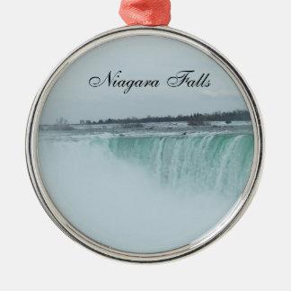 Ornamento de Niagara Falls Adorno Navideño Redondo De Metal