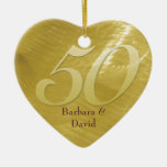 Ornamento de oro del aniversario de la Metal-Mirad Ornamento De Reyes Magos