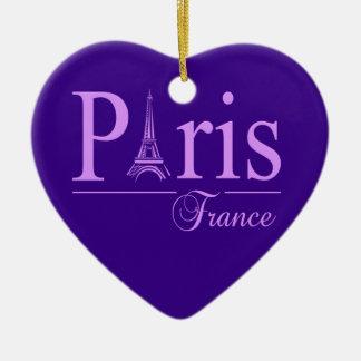 Ornamento de París Francia, de doble cara Adorno De Cerámica En Forma De Corazón