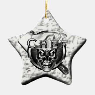 Ornamento de plata del cocinero del cráneo de la e adorno de reyes