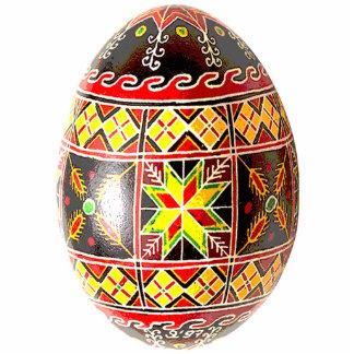 Ornamento de Pysanky (huevo de Pascua del ucranian Escultura Fotografica