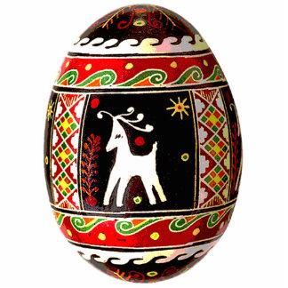 Ornamento de Pysanky (huevo de Pascua del ucranian Esculturas Fotográficas