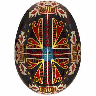 Ornamento de Pysanky (huevo de Pascua del ucranian Esculturas Fotograficas