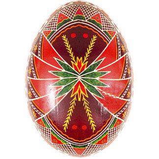 Ornamento de Pysanky (huevo de Pascua del ucranian Escultura Fotográfica
