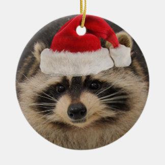 Ornamento de Santa del mapache