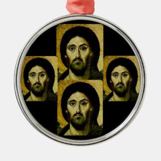 Ornamento de SinaiJesus Adorno Navideño Redondo De Metal