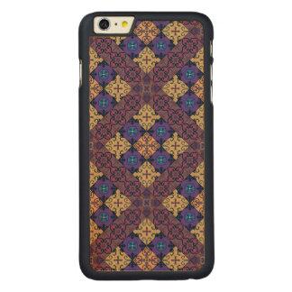 Ornamento de Talavera del mosaico del vintage Funda De Arce Para iPhone 6 Plus De Carved