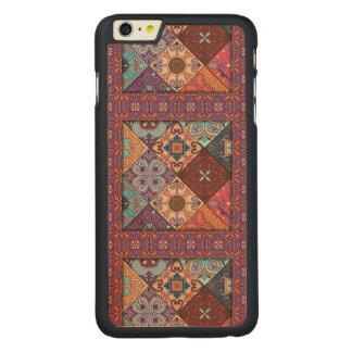 Ornamento de Talavera del mosaico del vintage Funda Fina De Arce Para iPhone 6 Plus De Carved