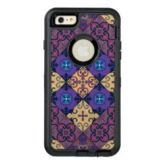 Ornamento de Talavera del mosaico del vintage Funda OtterBox Defender Para iPhone 6 Plus