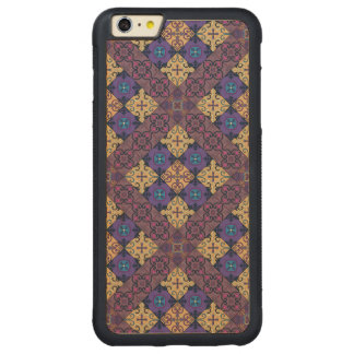 Ornamento de Talavera del mosaico del vintage Funda Protectora De Arce Para iPhone 6 Plus De Car