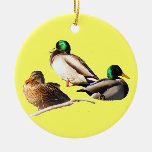 Ornamento de tres navidad de los patos ornamente de reyes