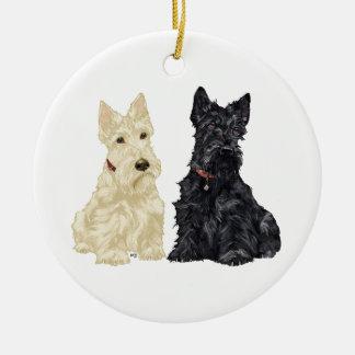 Ornamento de trigo y negro del perro del escocés