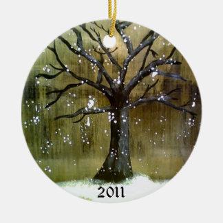 Ornamento de Wintertree Adorno Redondo De Cerámica