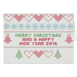 Ornamento decorativo de las Felices Navidad Tarjeta De Felicitación