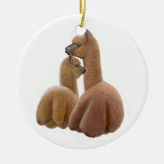 Ornamento del amor de la alpaca