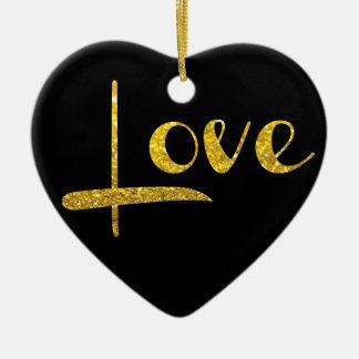 Ornamento del amor del corazón del brillo del oro