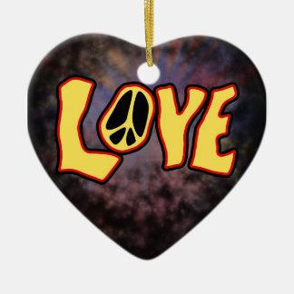 Ornamento del amor del Hippie Ornamentos De Reyes Magos