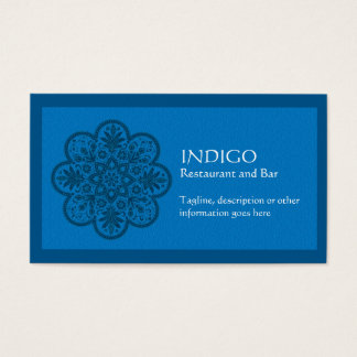 Ornamento del añil tarjeta de negocios
