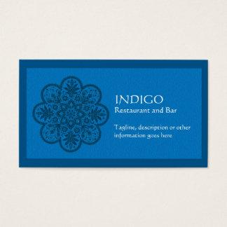 Ornamento del añil tarjeta de visita