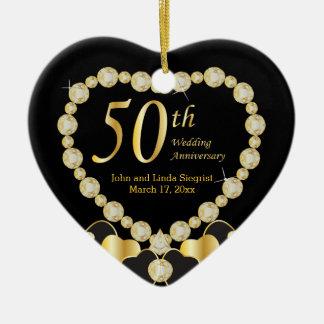 Ornamento del aniversario de boda cincuenta ornatos