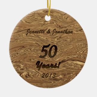 Ornamento del aniversario de boda de oro ornamento para reyes magos