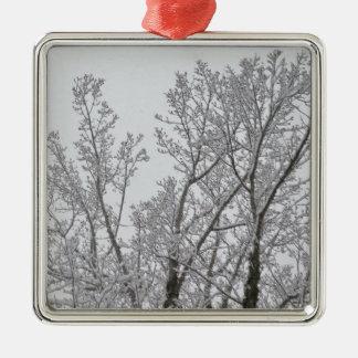 Ornamento del árbol de la nieve