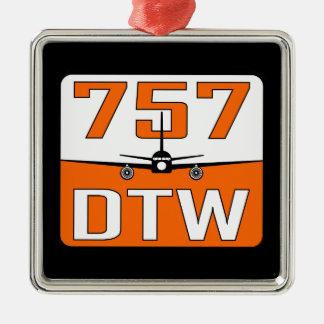 Ornamento del árbol de navidad de 757 DTW