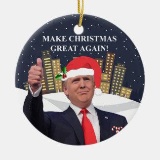Ornamento del árbol de navidad de Donald Trump