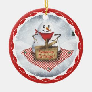 ornamento del árbol de navidad de la comida