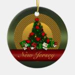 Ornamento del árbol de navidad de New Jersey Ornaments Para Arbol De Navidad