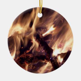 Ornamento del árbol de navidad del fuego