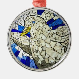 Ornamento del árbol de navidad del vitral de la