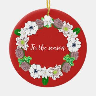 Ornamento del árbol de una guirnalda del navidad
