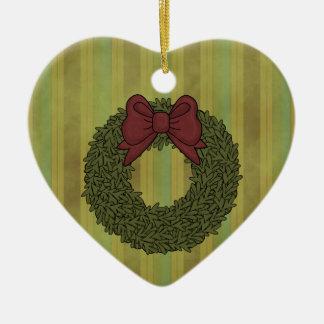Ornamento del árbol del corazón de la guirnalda de adorno de reyes