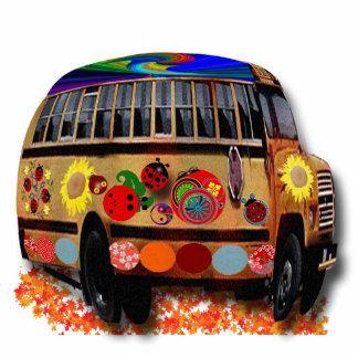 Ornamento del autobús de la mariquita esculturas fotograficas