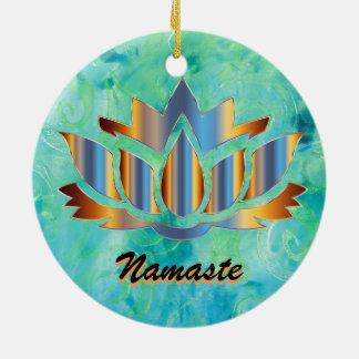 Ornamento del azul de Namaste Lotus